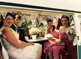 1960s Splitscreen VW Campervan wedding hire in Gwent